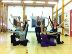 Rehearsal with the Love Army Dancers